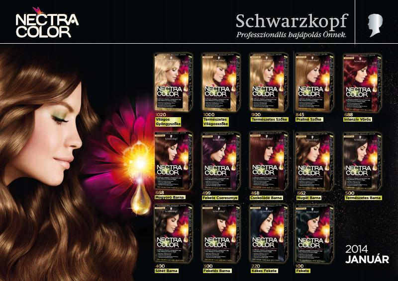The first hair dye of Schwarzkopf, that contains flower nectar and ...